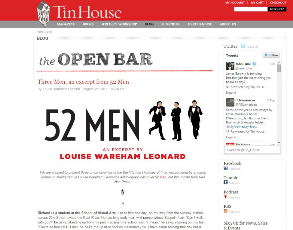52Men on Tin House Blog